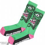 "SANTA CRUZ ""Rob Face"" Socks Skateboard Jim Phillips GREEN OSFA 1 pair Roskopp"